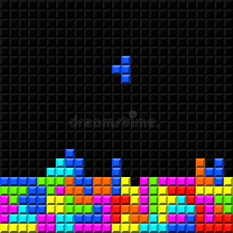 Retro- Spiel des Ziegelsteines stock abbildung