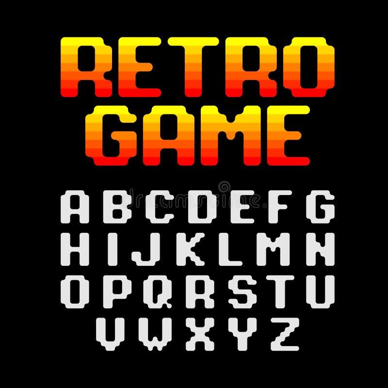 Retro- Spielpixelguß lizenzfreie abbildung
