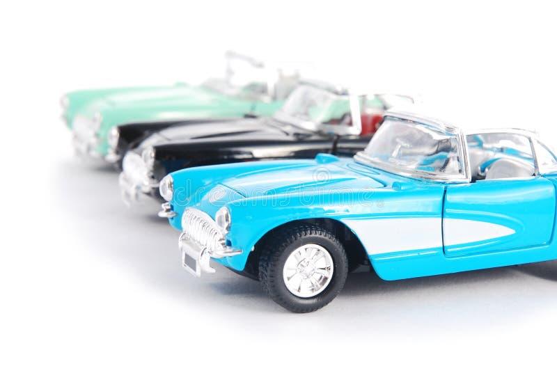 Retro- Spielzeugautos stockfoto