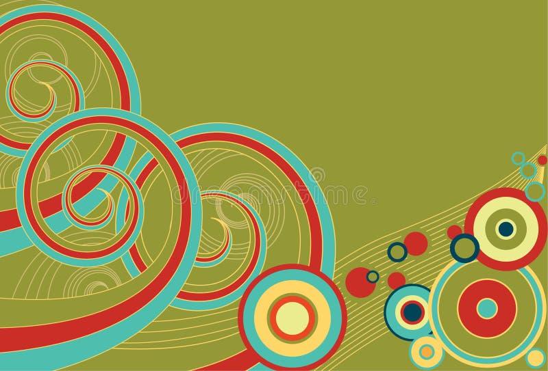 Retro Spiralen en Cirkels royalty-vrije illustratie