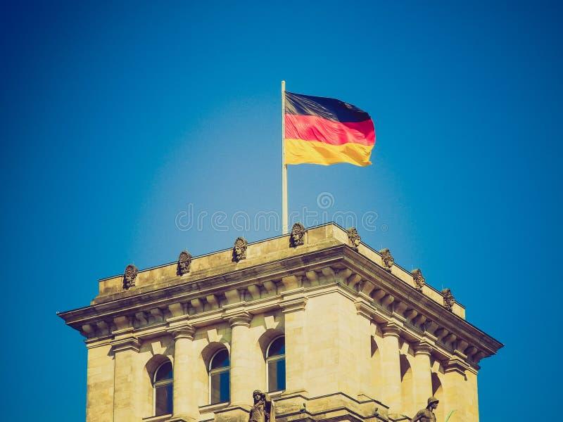 Retro spojrzenie niemiec flaga zdjęcie stock