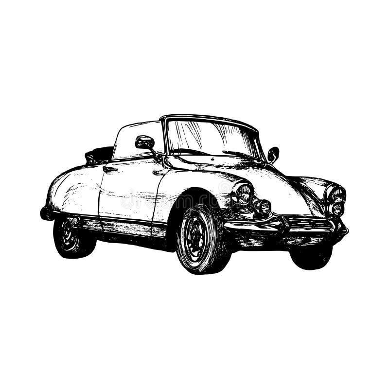 Free Retro Sport Car Vector Illustration. Hand Sketched Retro Automobile. Vintage Car Logo For Company, Store, Garage Label. Royalty Free Stock Photo - 90922795