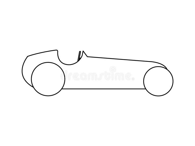 Retro sporta samochodu boczny widok royalty ilustracja