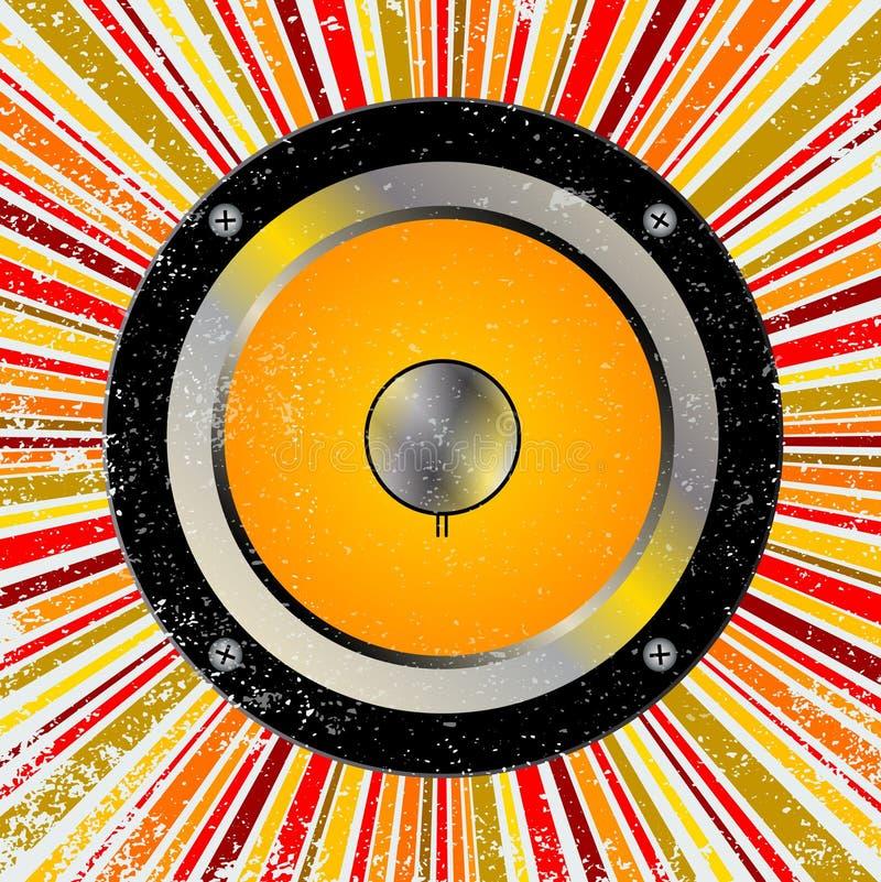 Retro- Sprecherhintergrund lizenzfreie abbildung