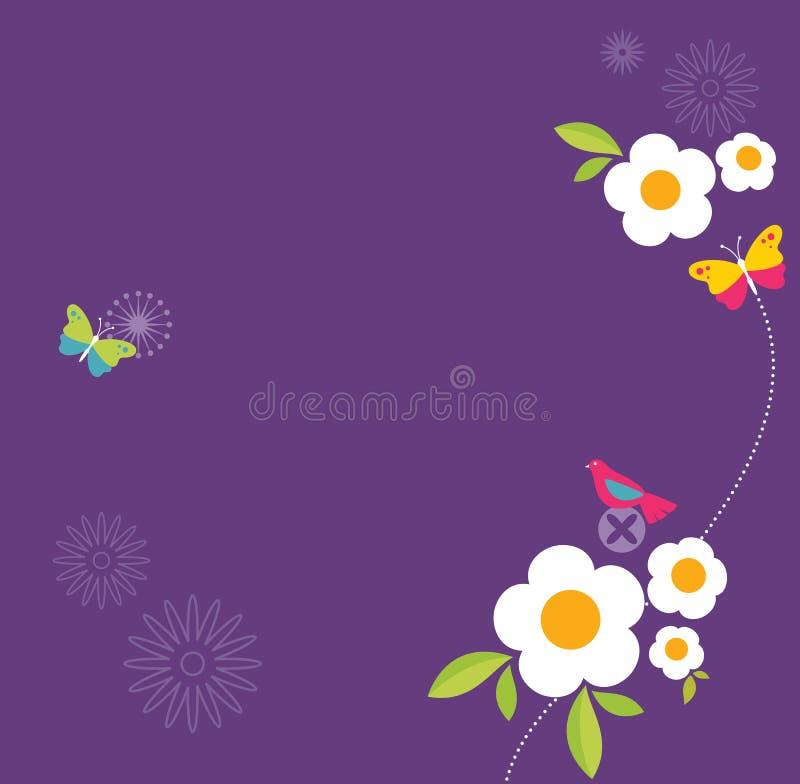Retro Spring Design royalty free illustration