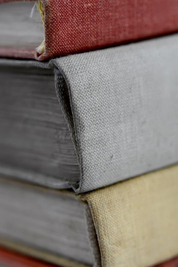 Retro stack of books stock photos