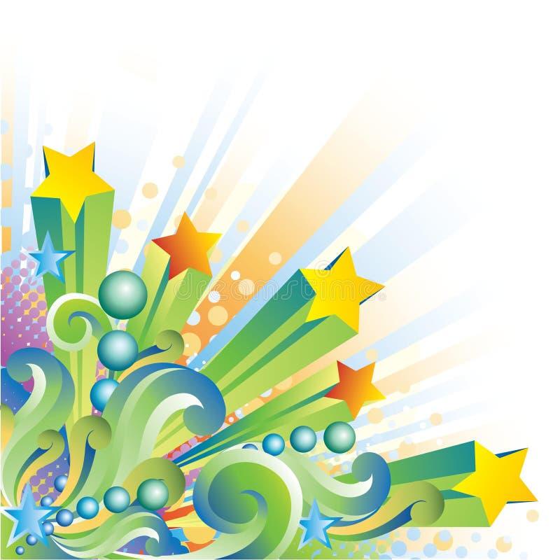 Free Retro Stars And Swirls Stock Photos - 14713933