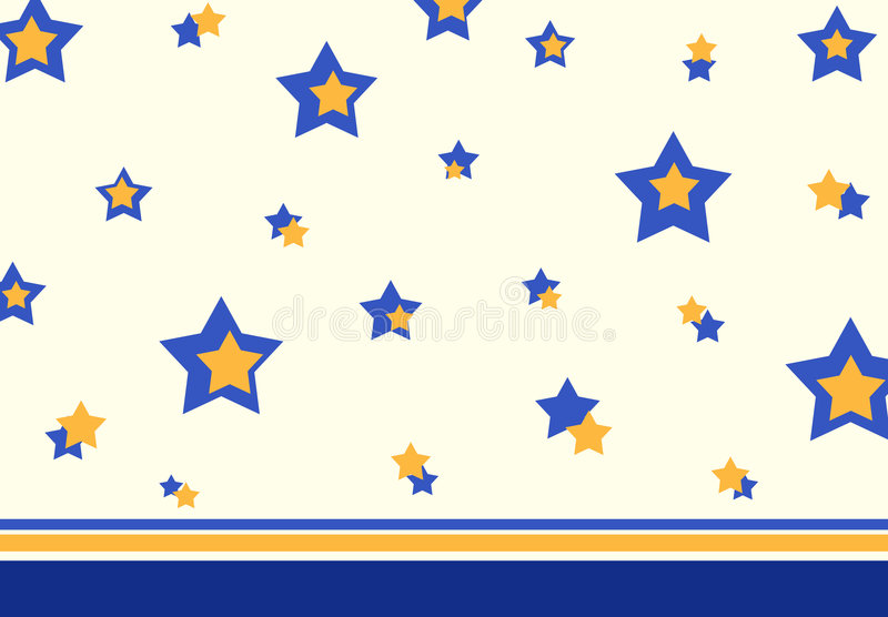 Retro stars pattern stock illustration
