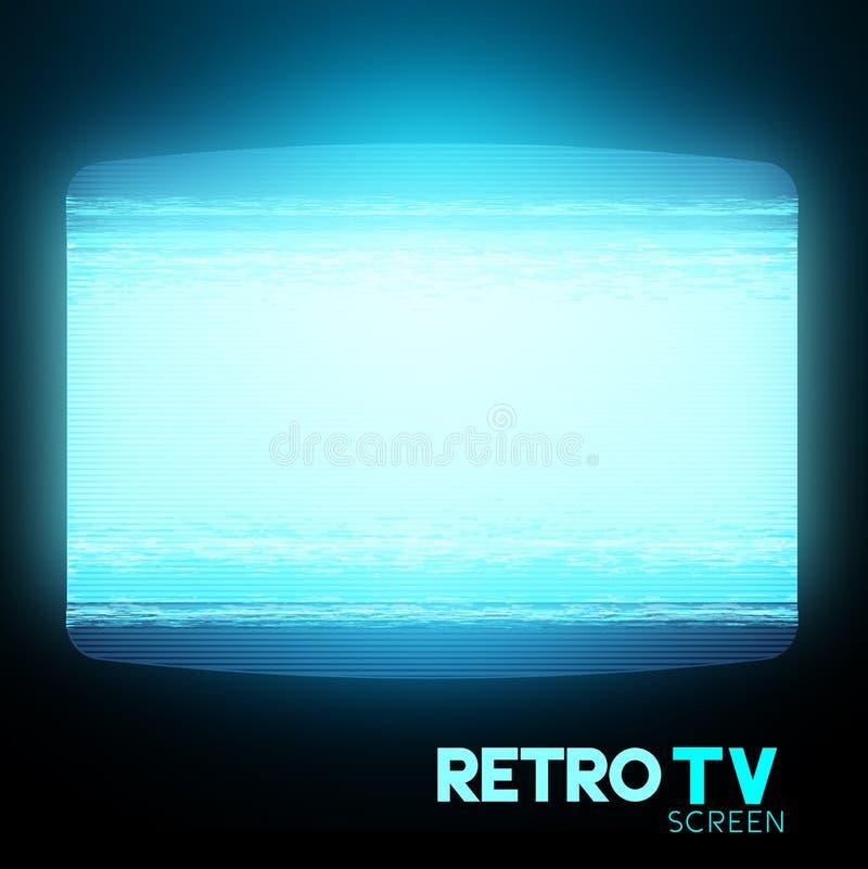 Retro Static TV Screen royalty free illustration