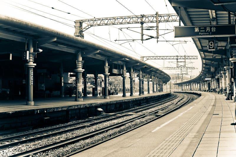 Retro stazione ferroviaria, Taiwan immagine stock