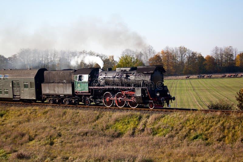 Retro steam train stock photography