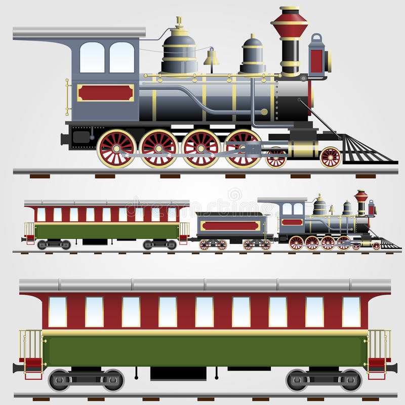 Download Retro Steam Train With Coach Stock Image - Image: 23325761