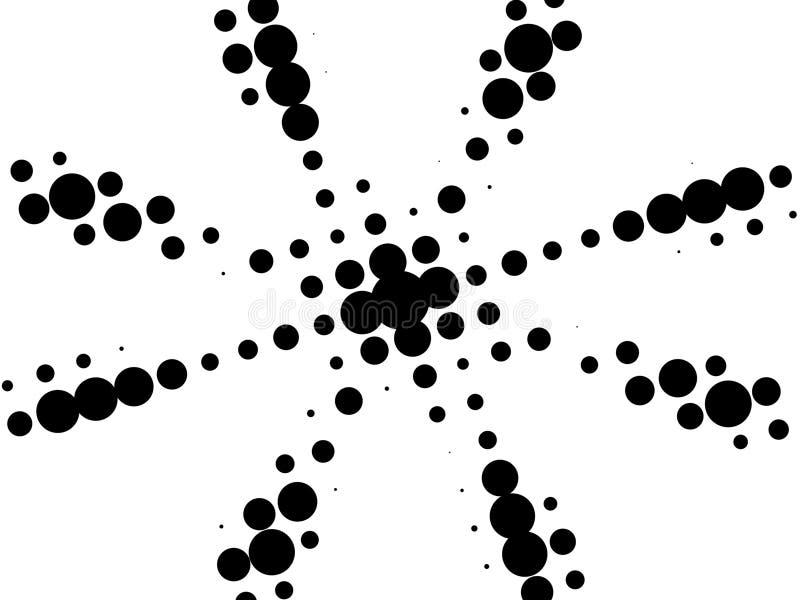 Retro stella in bianco e nero royalty illustrazione gratis