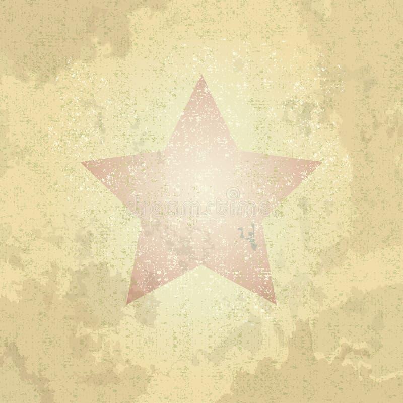 Retro stella di lerciume, carta di vettore illustrazione di stock