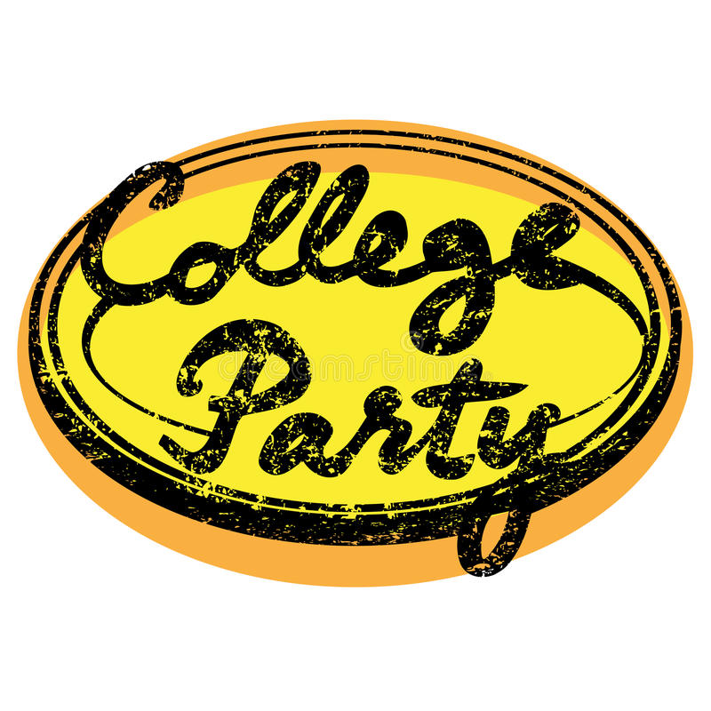 College-Partei stock abbildung
