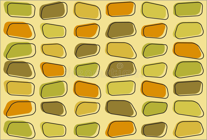 Retro Stepping Stone Background Royalty Free Stock Images