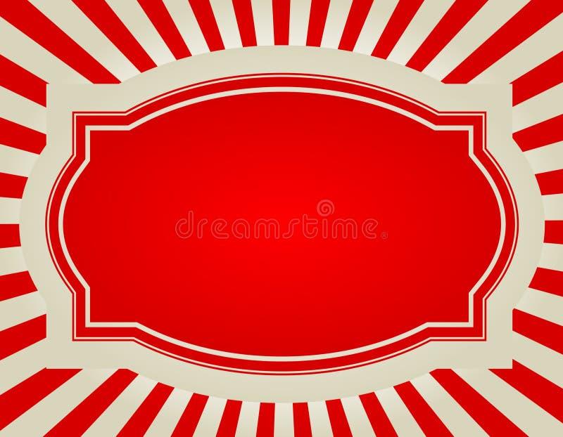 Retro ster barstte achtergrond stock illustratie
