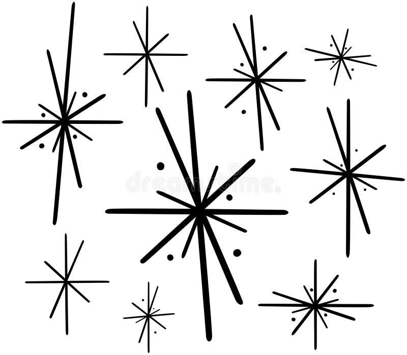 Retro- Sterne 2 lizenzfreie abbildung