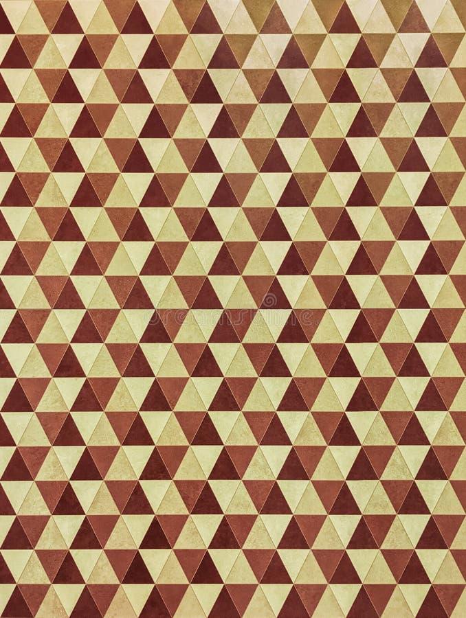 Retro stijl geometrisch behang royalty-vrije stock foto