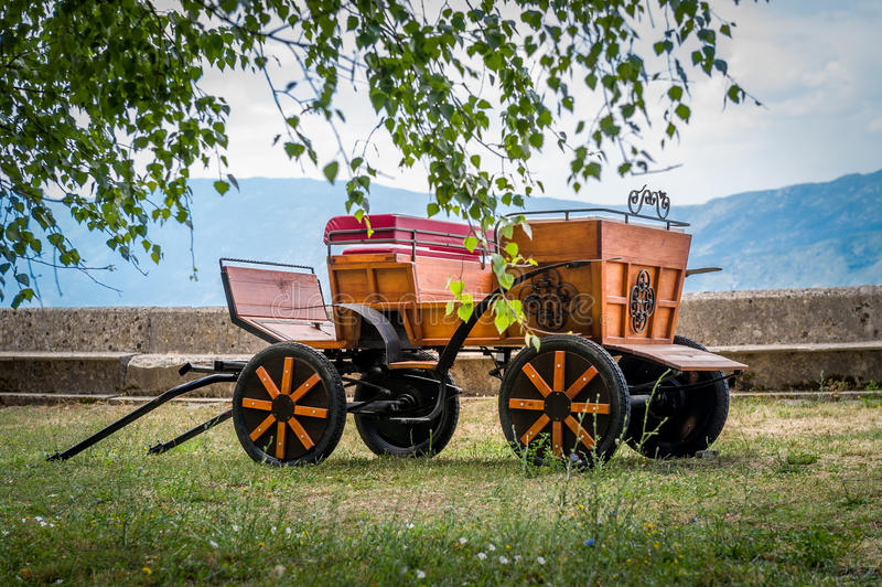Retro stijl horsedrawn vervoer royalty-vrije stock fotografie