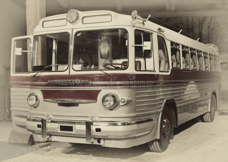 Retro stijlbus gestemd royalty-vrije stock fotografie