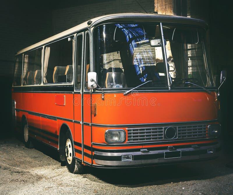 Retro stijlbus gestemd stock fotografie