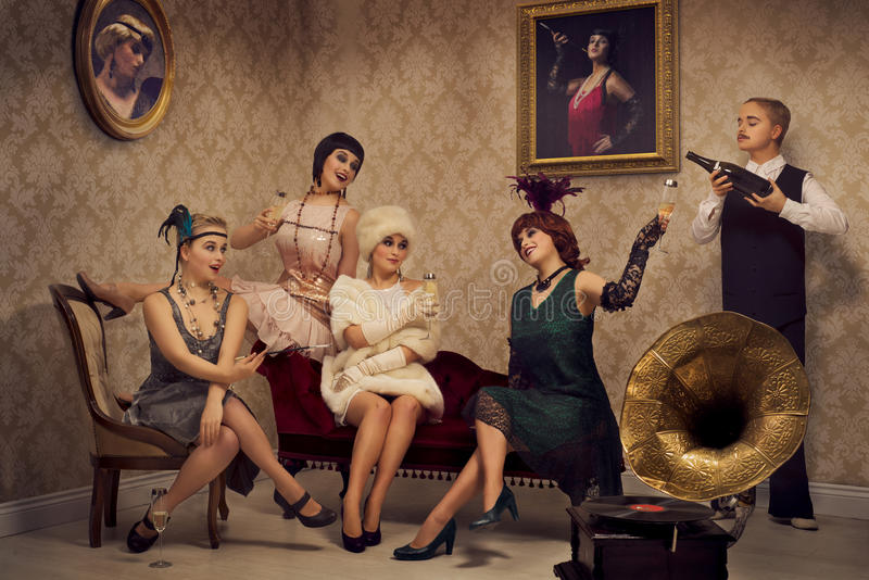 Retro stijlpartij royalty-vrije stock foto's