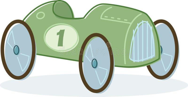 Retro stijlstuk speelgoed raceautoillustratie royalty-vrije illustratie