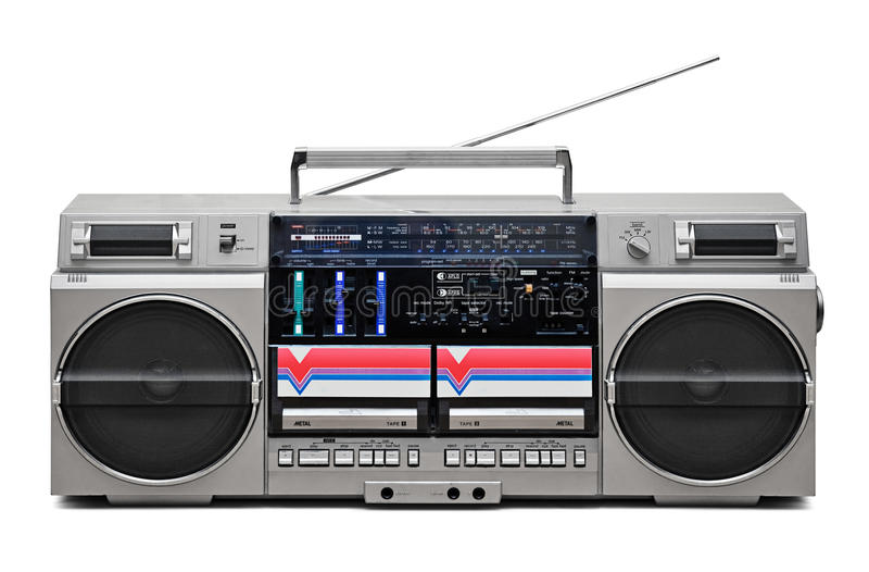 retro stil för ljudsignal registreringsapparat arkivbilder