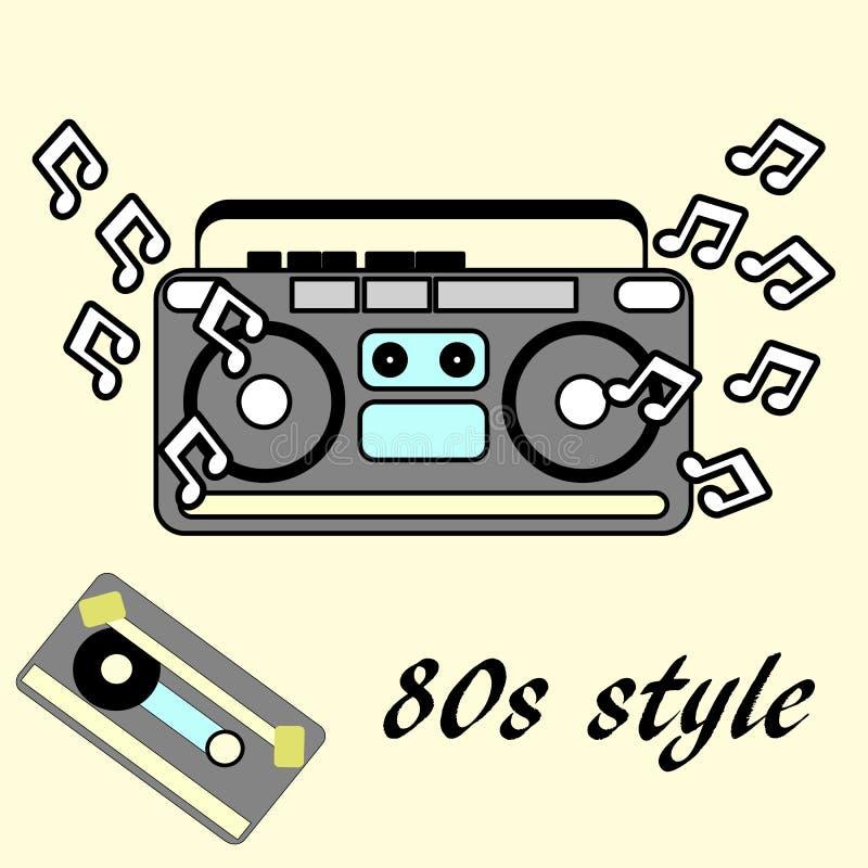 retro stil för 80-tal, reklamblad för 80 ` s för tappning retro disko 1980 vektor illustrationer