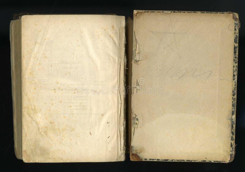 retro stil inrama den blom- prydnaden på sidorna av gamla böcker royaltyfri foto