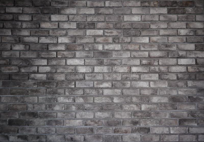 Retro stile della parete grigia del vecchio mattone fotografia stock