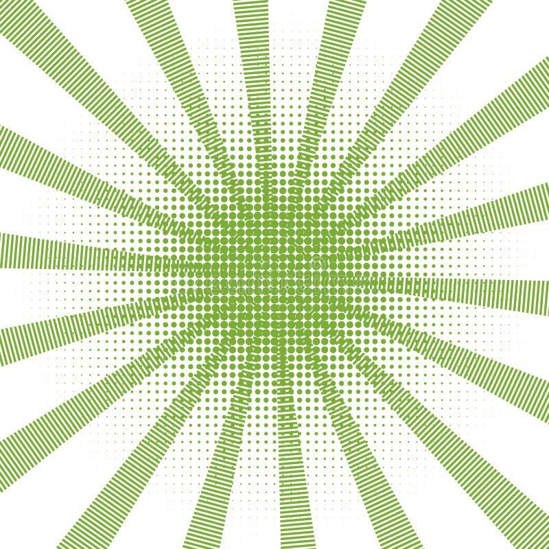 Retro stile di retro del fondo del quadro televisivo Pop art di semitono verde comico di pendenza - vettore di riserva royalty illustrazione gratis
