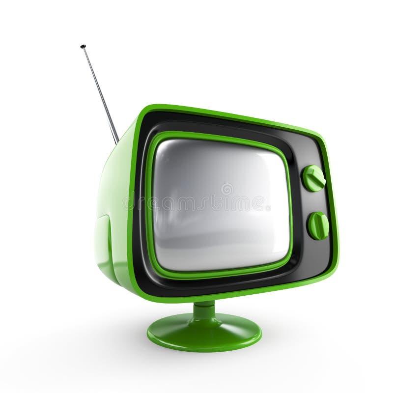 retro stilfull tv arkivbild