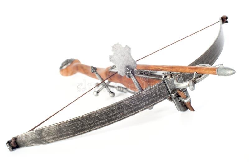 Retro- stilisiert hölzerner Crossbow stockfoto