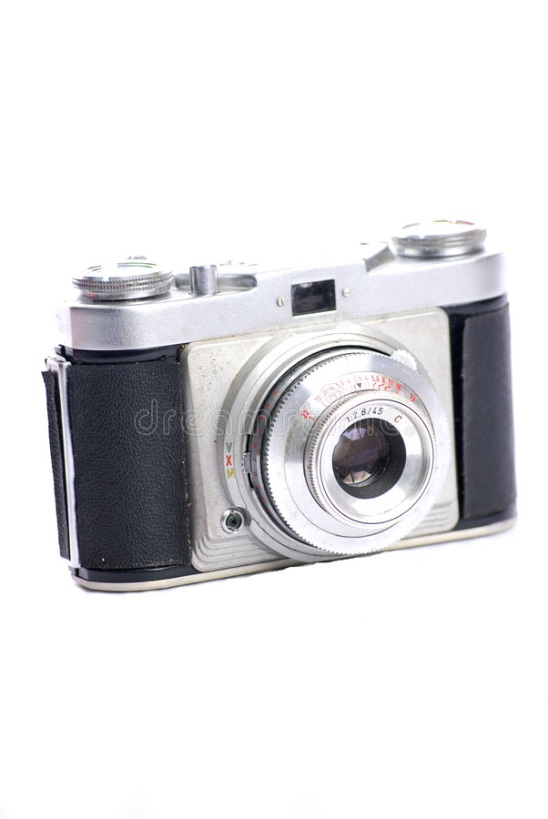 Download Retro stills camera stock image. Image of silver, 35mm - 7661933