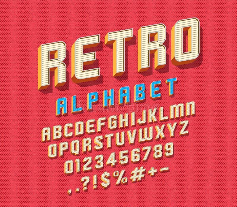 retro stilsort stock illustrationer