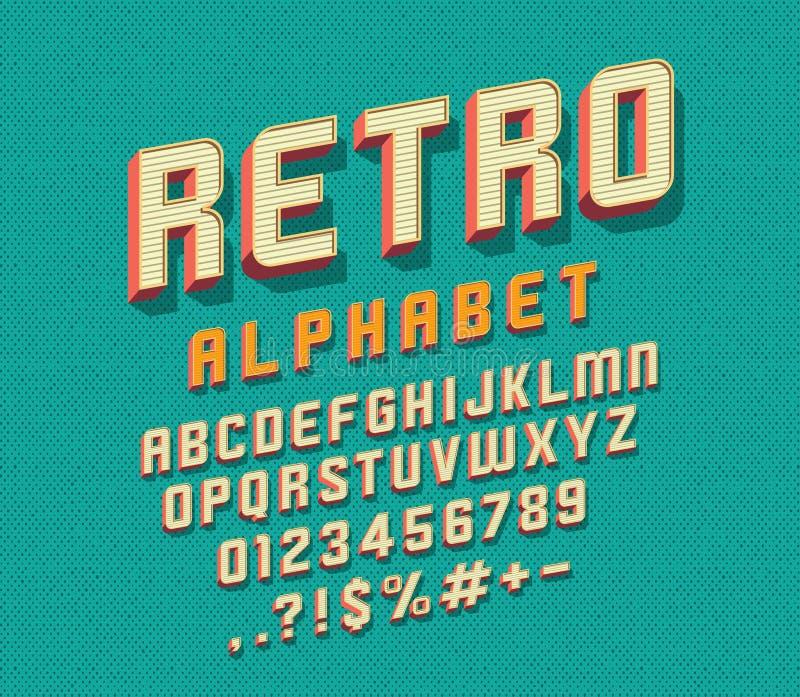 retro stilsort vektor illustrationer