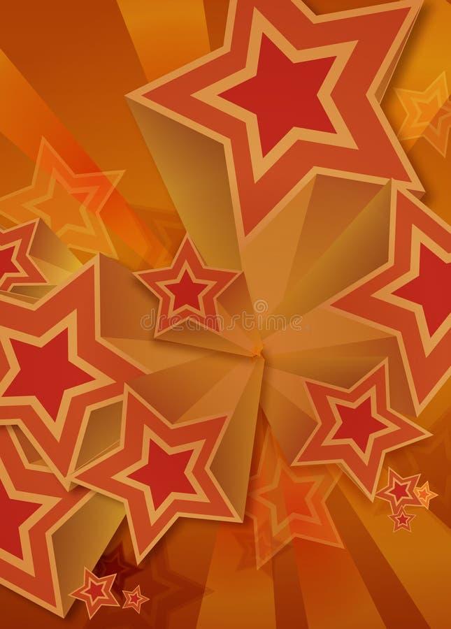 retro stjärna för 70-talmodell vektor illustrationer