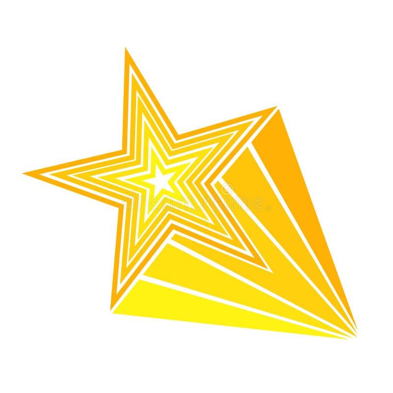 Retro stjärna för skytte för stil för tecknad filmpopkonst komisk Vektorillustra royaltyfri illustrationer