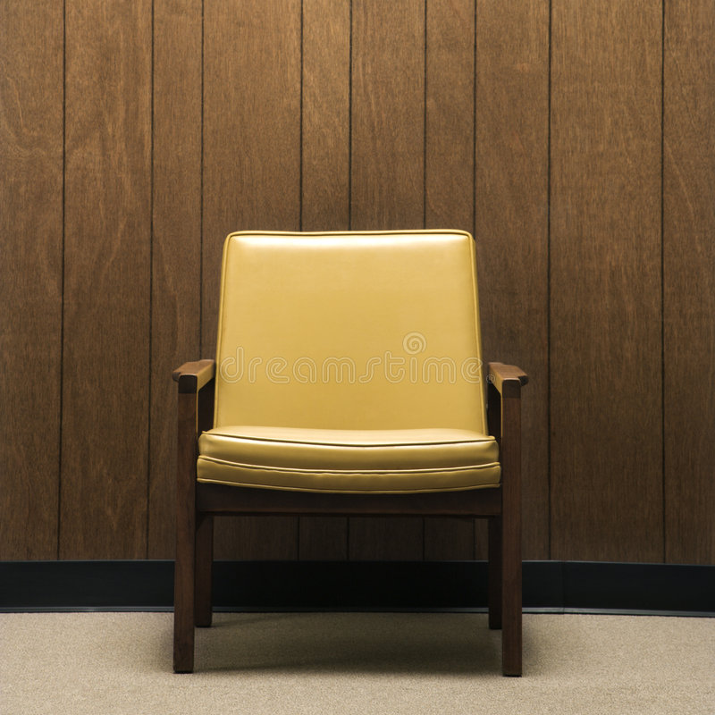 Retro stoel. stock fotografie