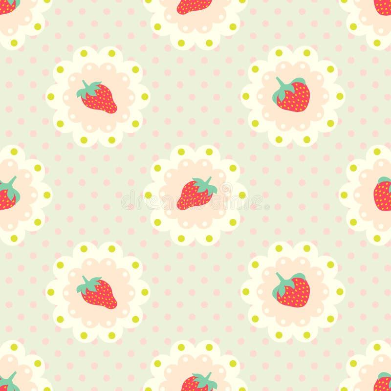 Retro strawberry pattern. vector illustration