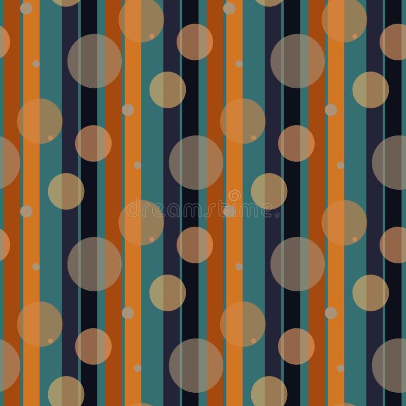 Retro streeppatroon met marine zwarte en oranje parallelle streep De vector abstracte achtergrond eps10 van de patroonstreep royalty-vrije illustratie