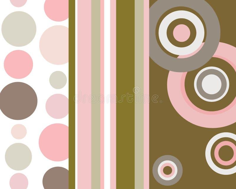 Retro- Streifen und Kreishintergrund lizenzfreies stockfoto