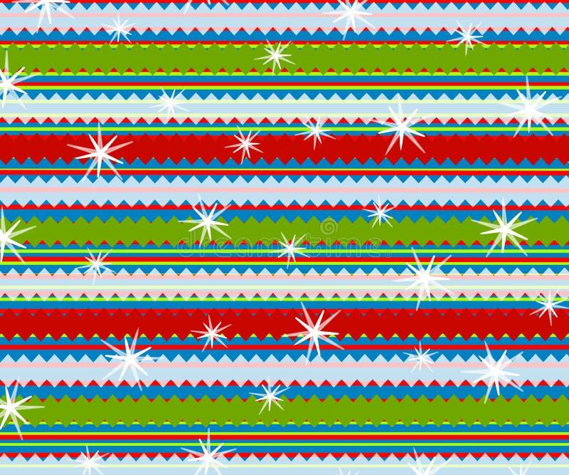 Retro Stripes Christmas Print stock illustration