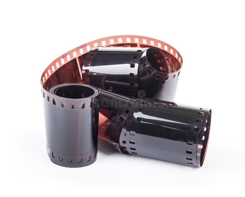 retro striscia della pellicola fotografica isolata su fondo bianco fotografie stock