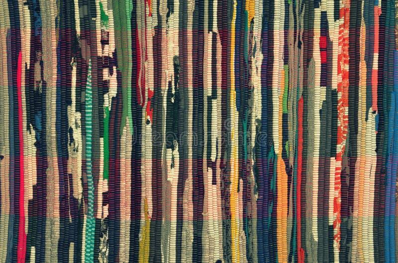 Retro stubarwny pasiasty tkanina zdjęcie royalty free