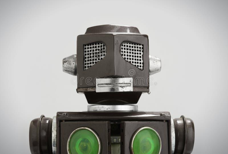 Retro stuk speelgoed van de tinrobot royalty-vrije stock afbeeldingen