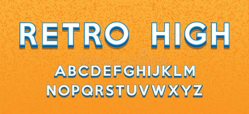 Retro style alphabet. Modern bold font and alphabet stock photography