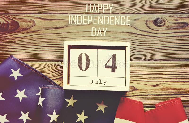 Background flag of the United States of America for national federal holiday celebration of Independence day. USA symbolics. stock photography